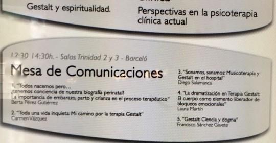 """MUSA en el III Congreso Nacional de Terapia Gestalt """"compartiendo inquietudes"""""""